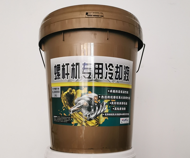 Special oil for screw machine