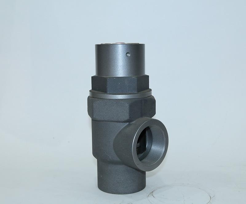 Screw connection minimum pressure valve